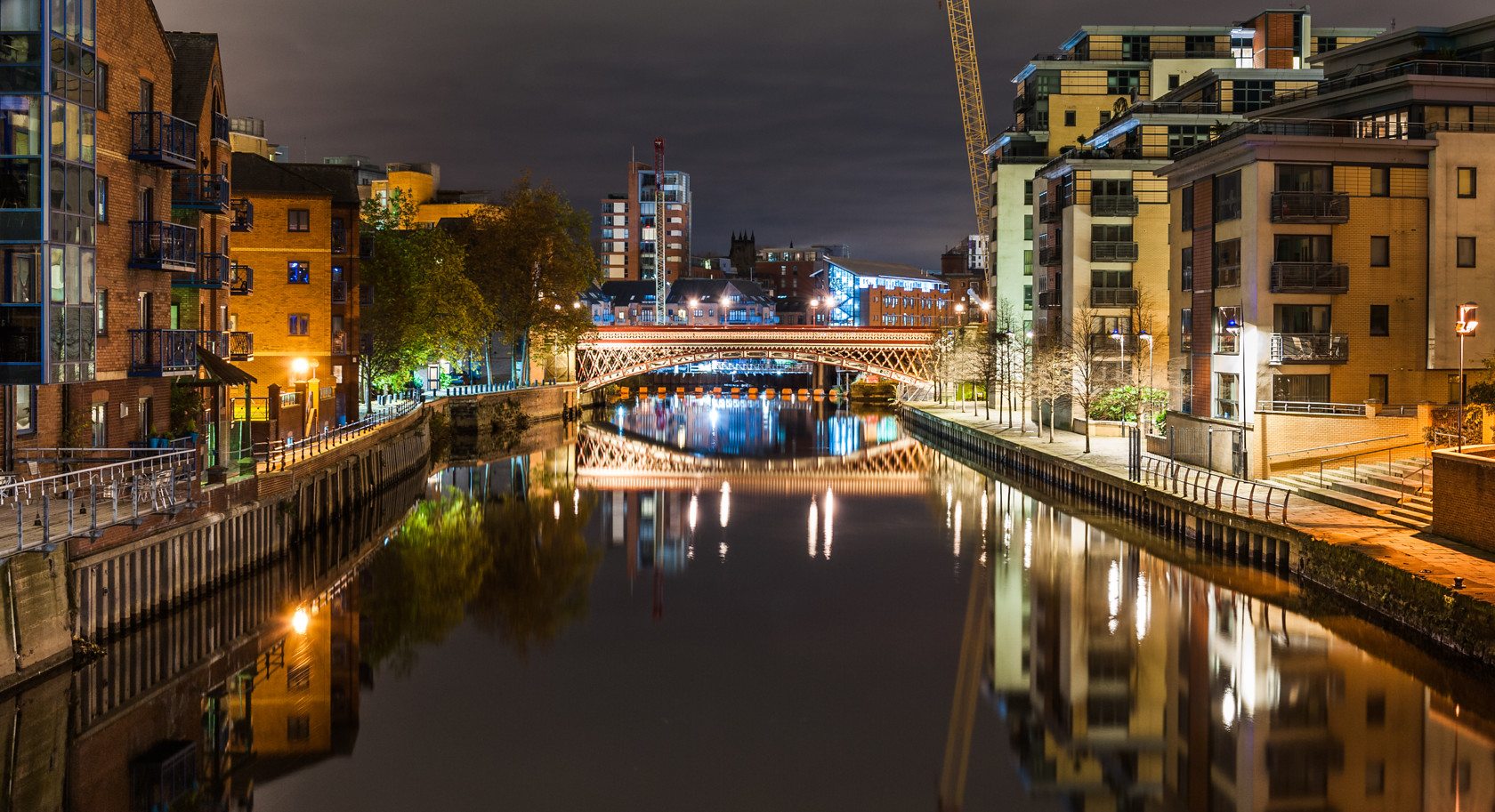 leeds waterfront (from the calls footbridge) (ref yo 260) 
