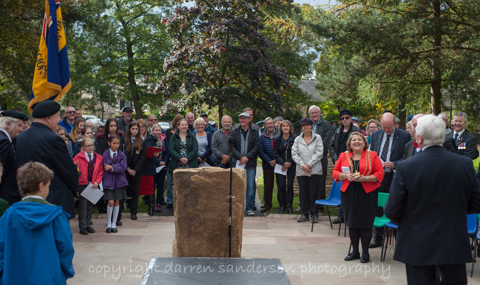 war memorial opening, nunroyd park picture 5 
