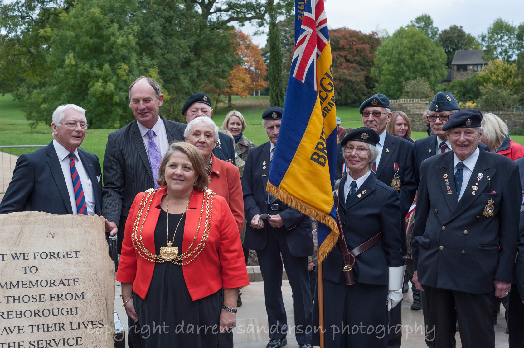 war memorial opening, nunroyd park picture 23 